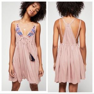 Free People Lovers Cove Embroidered Mini Dress